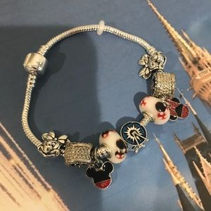Disney Mickey & Minnie Mouse Charm Bracelet